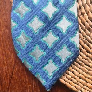 Vibrant Frank Stella vintage silk necktie tie